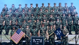 Darcy is the smiley soldier, third row up and second from right